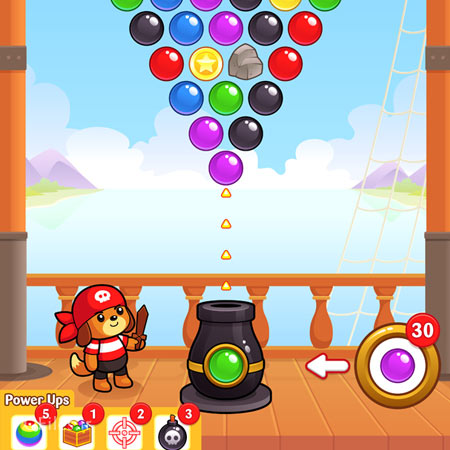 دانلود فایل لایه باز المان ها و آیکون های بازی پرتاب توپ های رنگی، مناسب برای طراحی ui بازی های موبایلی