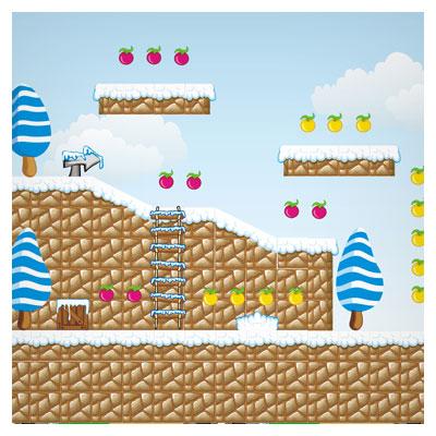 دانلود بکگراند کارتونی وکتوری برای ساخت بازی دوبعدی در فضای سکومانند، مناسب برای طراحان گیم موبایلی