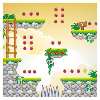 دانلود طرح گرافیکی بکگراند کارتونی بازی به شکل منظره طبیعت، مناسب برای طراحی ui بازی های تلفن همراه