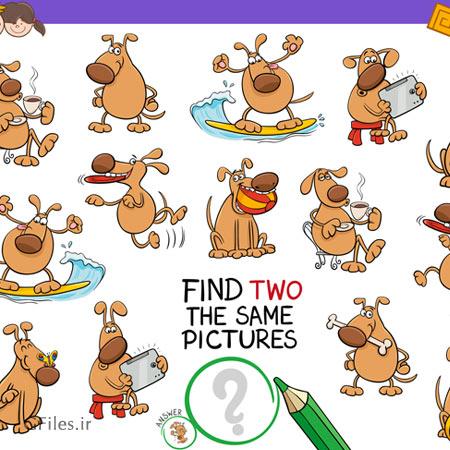 دانلود فایل لایه باز eps و ai مجموعه عناصر و المان های بازی پیدا کردن سگ دومی، ، قابل ویرایش در نرم افزار ادوب ایلستریتور