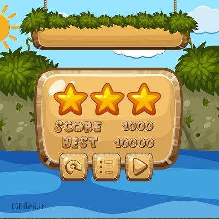 دانلود پس زمینه وکتوری بازی با دیزاین اقیانوس آبی، قابل ویرایش در نرم افزار ادوب ایلستریتور