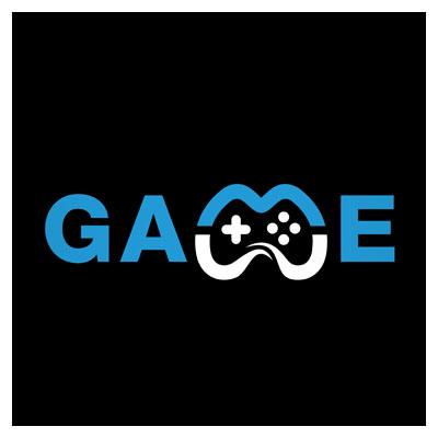 دانلود طرح لایه باز لوگو بازی به صورت تصویر خلاقانه دسته بازی در ترکیب با عبارت گیم قابل اجرا در کلیه نرم افزارهای گرافیکی