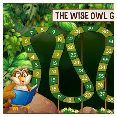 دانلود فایل لایه باز قالب بازی جغد کتابخوان در جنگل، مناسب برای طراحی ui بازی های تلفن همراه