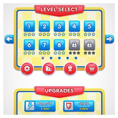 دانلود فایل لایه باز فریم دو بعدی بازی، به صورت وکتوری، مناسب برای طراحی ui بازی های موبایلی