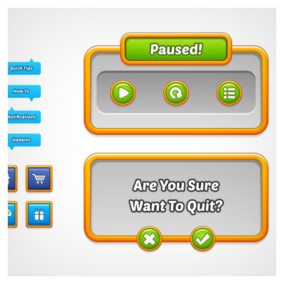 دانلود فایل لایه باز کلید و فریم بازی، شامل المان ها و آیکون ها، مناسب برای طراحان گیم موبایلی