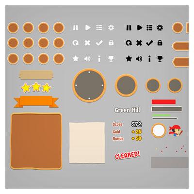 دانلود فایل تصویری اجزا مختلف بازی به صورت مجزا، شامل کلید و فریم و آیکون و ...، ارائه شده با فرمت های eps و ai