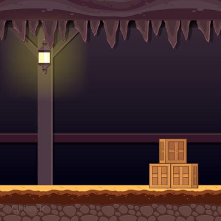دانلود فایل بکگراند وکتور آماده بازی سیاهچال خالی و تاریک، مناسب برای طراحی ui بازی های موبایلی