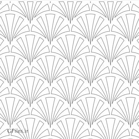 طرح لایه باز مشبک با طرح چتری با دو فرمت dxf و cdr