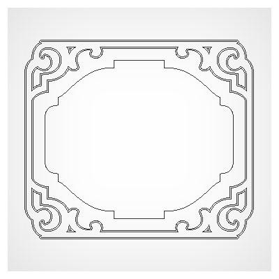 دانلود مجموعه 6 فریم متنوع مناسب برای برش لیزر یا cnc