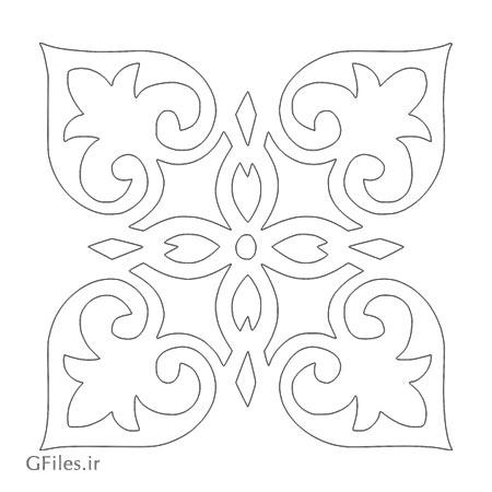 المان تزئینی گل جهت برشکاری ، لیزر یا cnc ، ارائه شده با فرمت های cdr و dxf