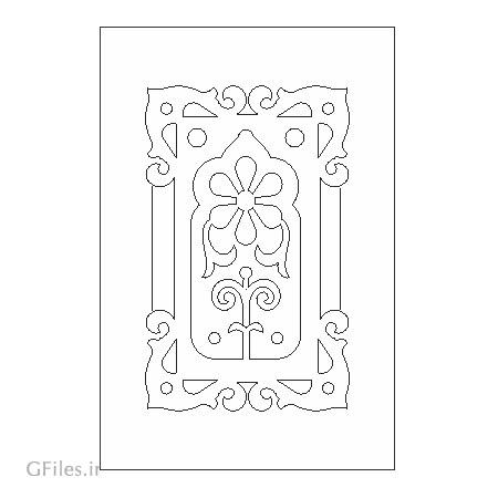 طرح لایه باز المان زیبای تزئینی جهت حکاکی درب ، کف سالن ، روی میز ، کف سینی یا سقف