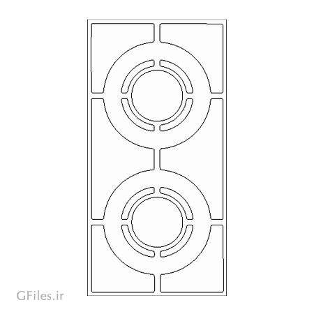 طرح لایه باز تزئین و حکاکی روی درب مناسب جهت برش لیزر یا cnc
