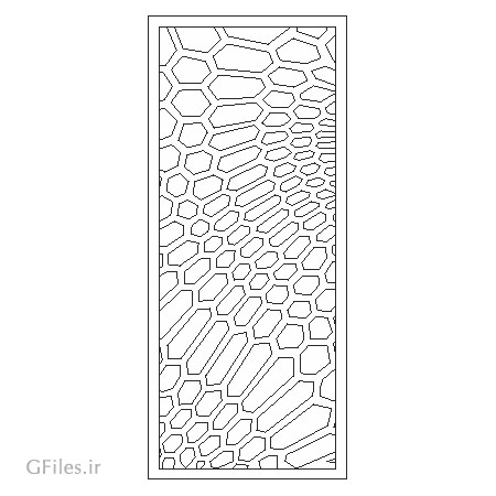 طرح لایه باز جهت پنل مشبک یا تزئین درب ، ارائه شده با دو فرمت cdr و dxf