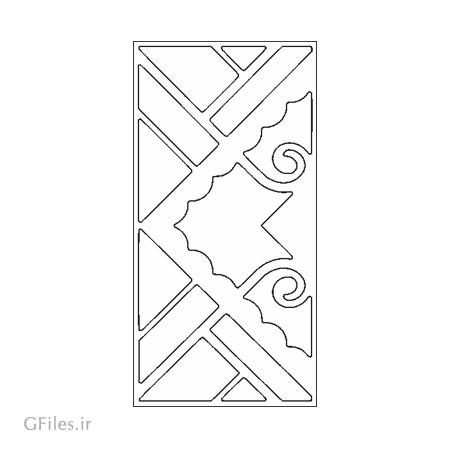 طرح لایه باز جهت تزئین درب (حکاکی یا برش لیزر و سی ان سی روی درب)