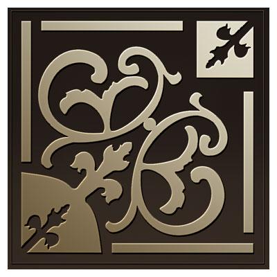 دانلود المان تزئینی مربعی با طرح گل جهت برش لیزر یا cnc