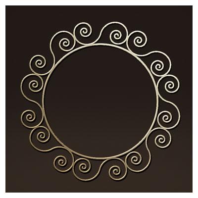 طرح لایه باز قاب آیینه ای دوار (دایره ای) مناسب برای برش لیزر یا سی ان سی