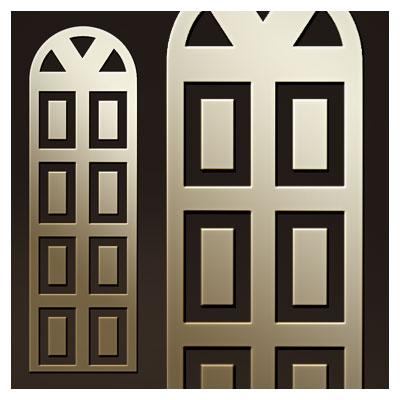 طرح ساده از تزئین درب چوبی یا فلزی (درب سنتی) جهت برش لیزر یا cnc