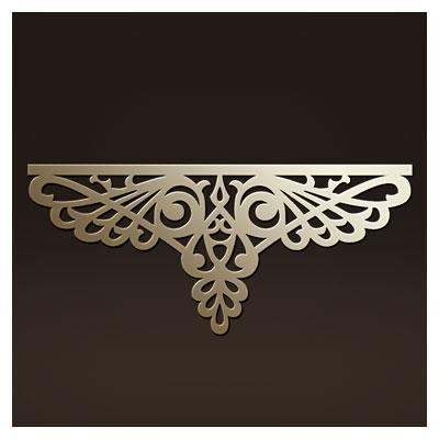 المان زیبای تزئینی جهت تاج تخت مناسب برای برش لیزر یا سی ان سی