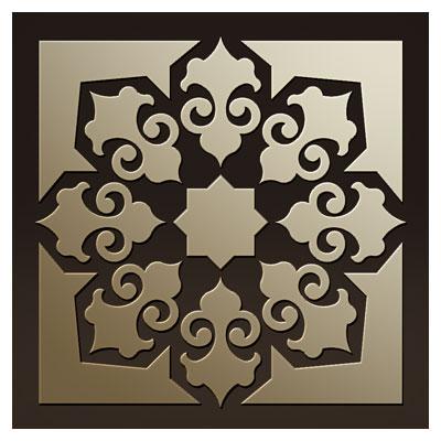 طرح تزئینی مربعی (تذهیبی) جهت حکاکی روی میز ، کف سالن و ... مناسب برای برش لیزر یا سی ان سی