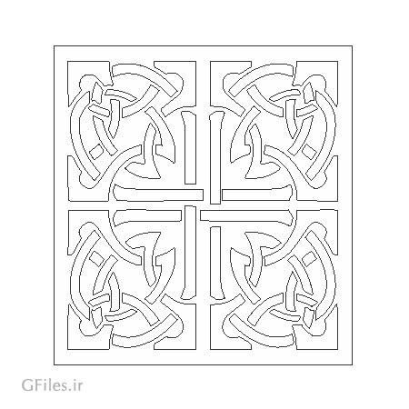 المان لایه باز تزئینی مربعی مناسب برای برش لیزر یا حکاکی و cnc