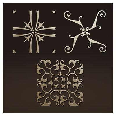 مجموعه سه المان لایه باز گل تزئینی جهت حکاکی یا برش لیزر و سی ان سی