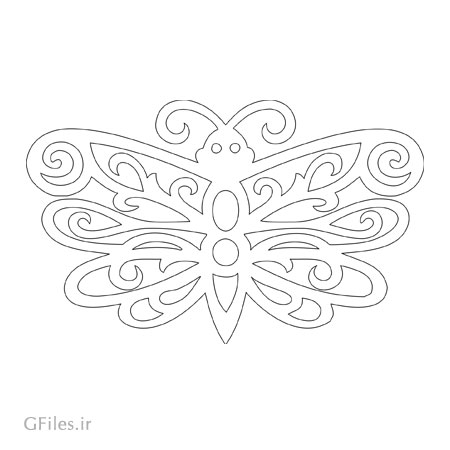 طرح لایه باز پروانه مناسب برای برش لیزر یا سی ان سی