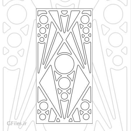 فایل لایه باز تزئین درب چوبی یا فلزی ، مناسب برای برش لیزر و سی ان سی