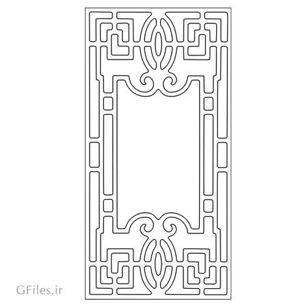 طرح لایه باز dxf و cdr جهت جکاکی روی درب چوبی یا فلزی