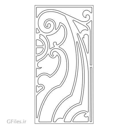 دانلود طرح لایه باز تزئینی جهت حکاکی رو درب چوبی یا فلزی