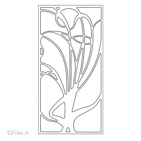 طرح تزئینی لایه باز مناسب برای حکاکی روی درب یا ساخت پنل مشبک (لیزر و سی ان سی)