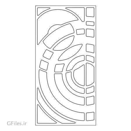 دانلود فایل dxf و cdr طرح تزئینی جهت حکاکی روی درب یا پنل مشبک