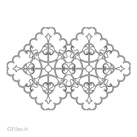 طرح لایه باز المان تزئینی لوزی شکل با دو فرمت dxf و cdr
