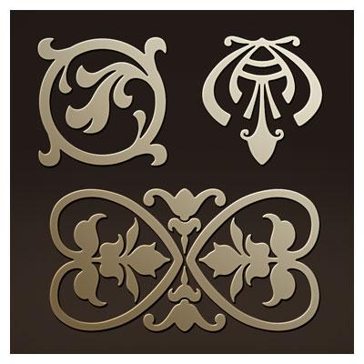 دانلود سه المان تزئینی مناسب برای حکاکی یا برش لیزر و cnc
