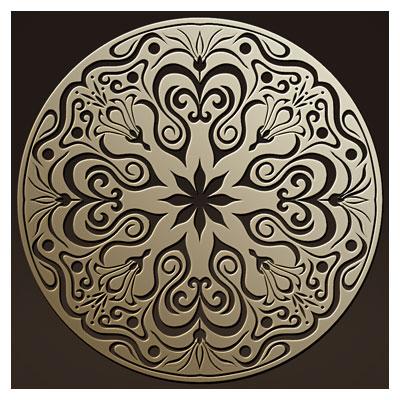 المان تزئینی مدور مناسب برای برش لیزر یا cnc روی چوب یا فلز