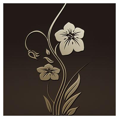 طرح لایه باز گل و بوته مناسب برای حکاکی ، برش لیزر یا سی ان سی روی درب کمد و ...