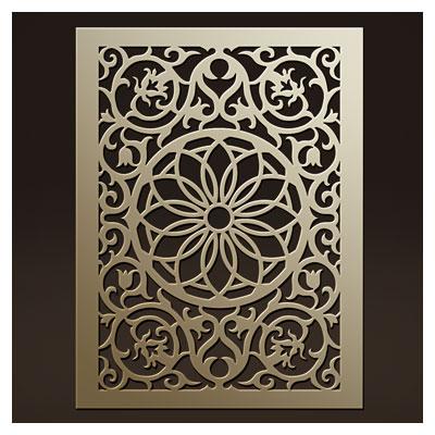 طرح لایه باز لیزر یا سی ان سی جهت حکاکی روی درب یا ساخت پنل مشبک