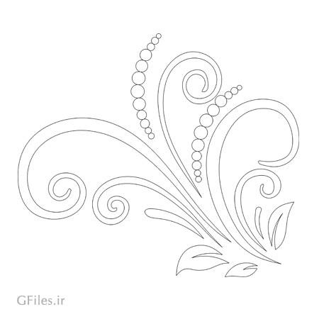 طرح گل و بوته لایه باز (Swirl & Floral) جهت برش لیزر یا حکاکی و cnc