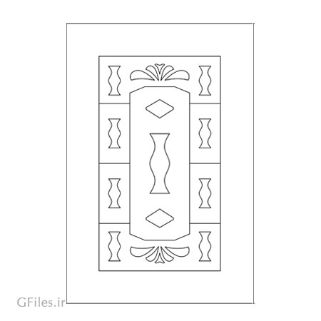 دانلود طرح تزئینی آماده جهت حکاکی روی درب چوبی یا فلزی (برش لیزر یا cnc)