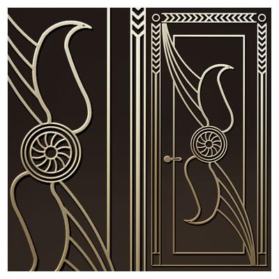 طرح زیبای تزئینی جهت حکاکی (لیزر یا سی ان سی) روی درب چوبی یا فلزی
