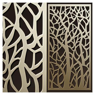 فایل آماده با طرح درخت های جنگل مناسب برای دیوار جدا کننده (برش لیزر و CNC)