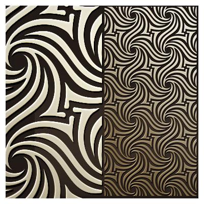 طرح پترن مواج مناسب برای حک یا برش روی چوب و فلز