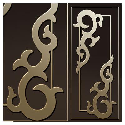 فایل لایه باز dxf و cdr طرح تزئینی روی درب چوبی یا فلزی (لیزر یا cnc)
