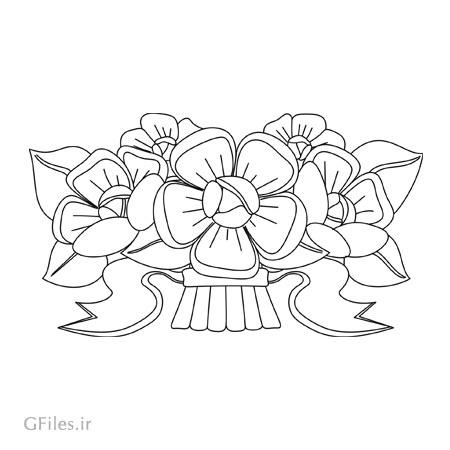 المان تزئینی گل مناسب برای حک (لیزر یا سی ان سی) روی درب کمد