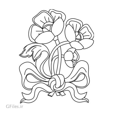 فایل لایه باز المان تزئینی گل و بوته جهت تزئین روی درب کمد ، میز و ... (برش و لیزر)