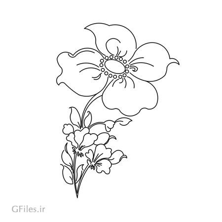 طرح تزئینی گل و بوته جهت حک یا برش لیزر و سی ان سی رو درب کمد ، میز یا کف سالن