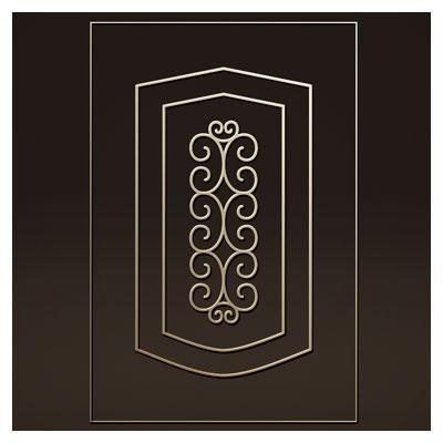 طرح تزئینی جهت حک روی درب چوبی یا فلز (لیزر یا سی ان سی)