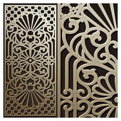 طرح زیبای مشبک مناسب برای ساخت پنل مشبک یا دیوار جدا کننده