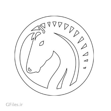 طرح لایه باز دوار سر اسب مناسب برای تزئینات کف سالن ، میز و ...
