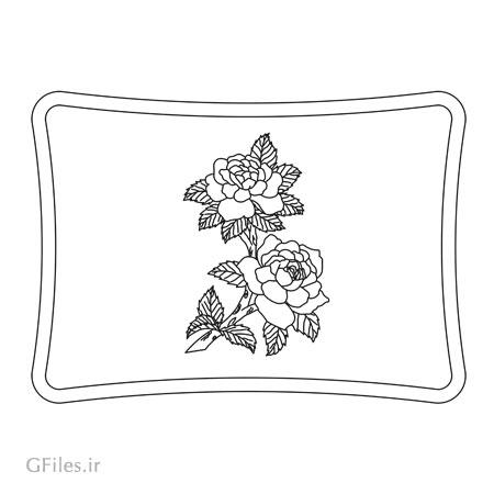 دانلود طرح لایه باز تزئینی گل رز جهت حک (لیزر یا cnc) روی کف سالن ، سینی ، میز و ..
