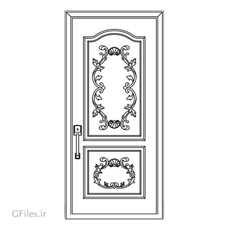 طرح لیزر و cnc تزئینی جهت ساخت درب چوبی یا فلزی